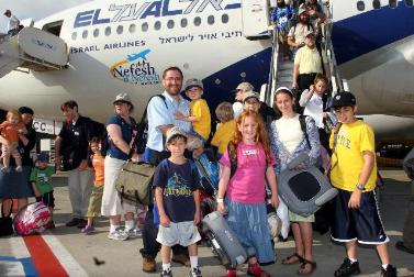 Jews arrive to live in Israel