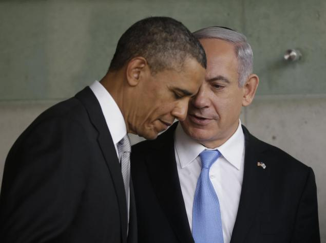 Obama listens to Netanyahu