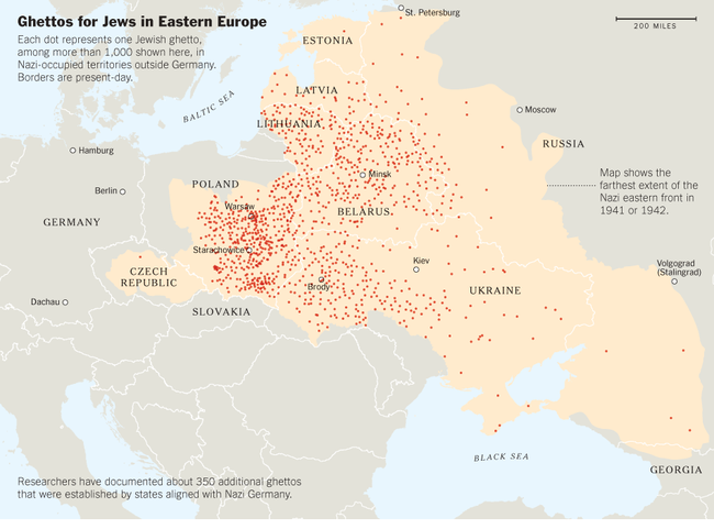 ghetto-map-east Europe