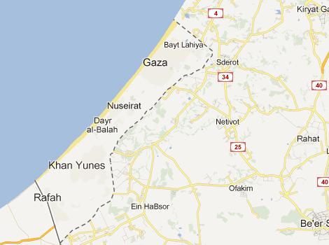 Gaza in southern Israel