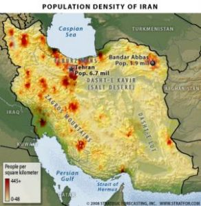 Iran population density