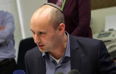 Naftali Bennett at a Bayit Yehudi faction meeting, February 18, 2013. Photo: Marc Israel Sellem/The Jerusalem Post