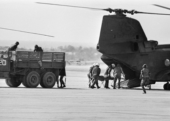 airlifting wounded