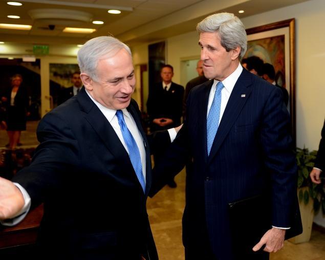 Israeli Prime Minister Benjamin Netanyahu and U.S. Secretary of State John Kerry