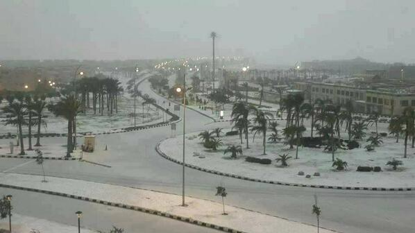 For the first time in 112 years, it snows in Cairo
