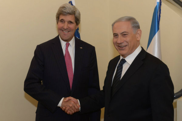 John Kerry and Benjamin Netanyahu
