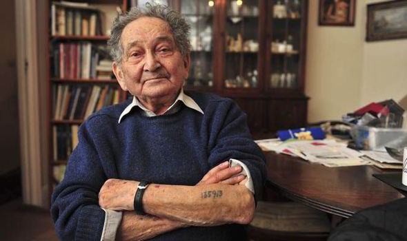 Sam Pivnik, who was sent to a death camp aged just 14, has urged Jews in Ukraine to flee[MARK KEHOE]