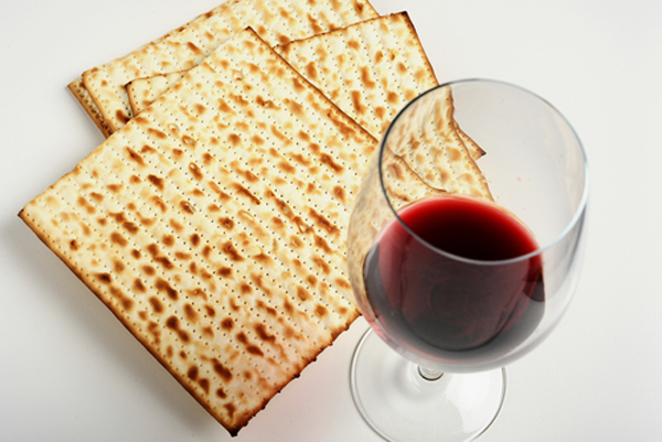 matza 3 pieces 4 glasses of wine
