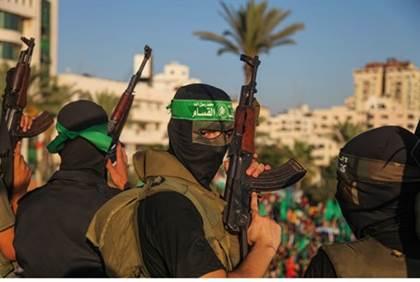 Hamas terrorists in Gaza