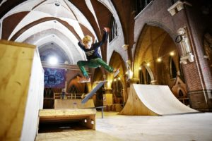 The former Roman Catholic Church of St. Joseph in Arnhem, Netherlands, one of hundreds of decommissioned churches, was turned into a skate park. Merlijn Doomernik for The Wall Street Journal