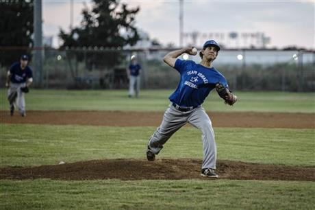 Israel baseball team pitcher Dean Kremer