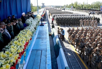 Iranian President Hassan Rouhani attends National Army Day parade in Tehran, Sunday April 17, 2016 | Photo credit: Reuters