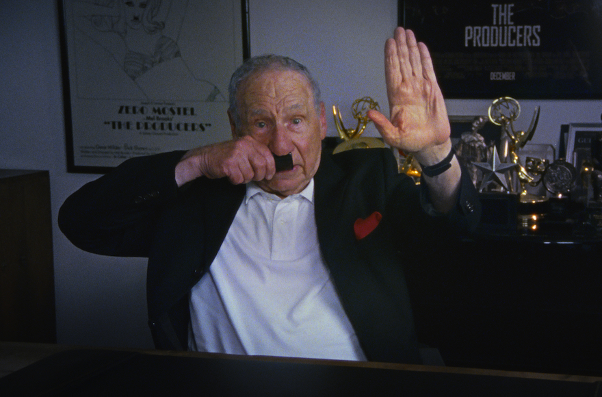 Mel Brooks doing a Hitler bit in an interview for