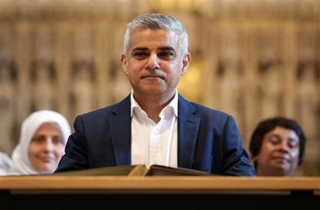 London's new mayor, Sadiq Khan