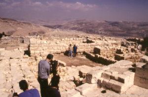Mount Gerizim with TV Crew