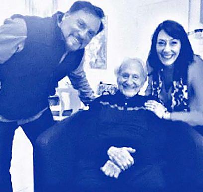 Myles and Katharine with death camp survivor