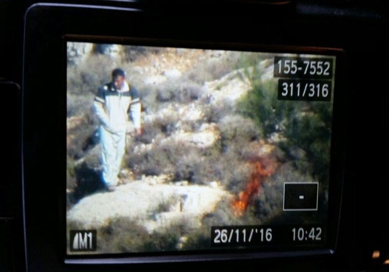 Footage of arson West Bank. (photo credit:ISRAEL NATURE AND PARKS AUTHORITY)