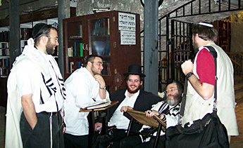 Todd with the Minyan