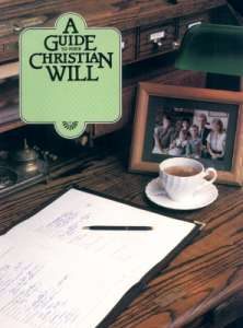 A Guide to Your Christian Will book cover