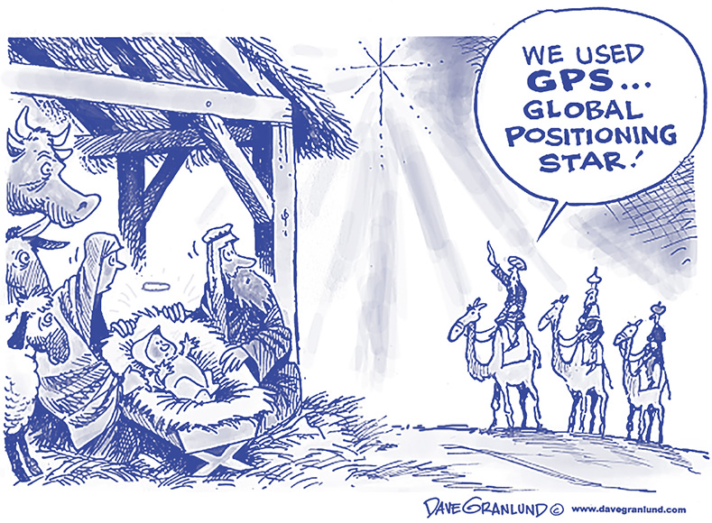 "Wise men: ""We used GPS... Global Positioning Star!"""